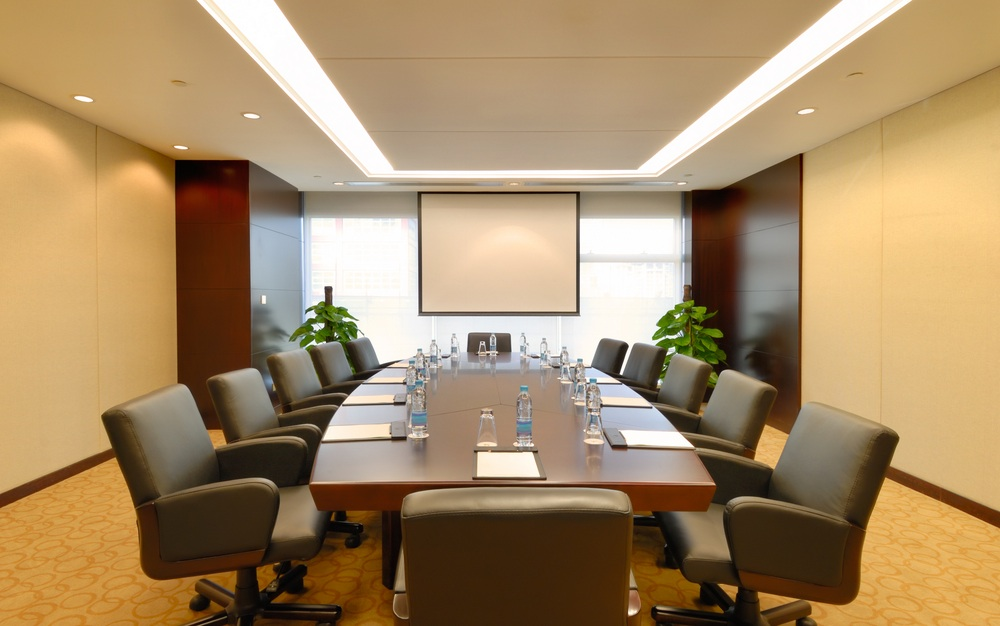 Conference Room With Audio Visual System